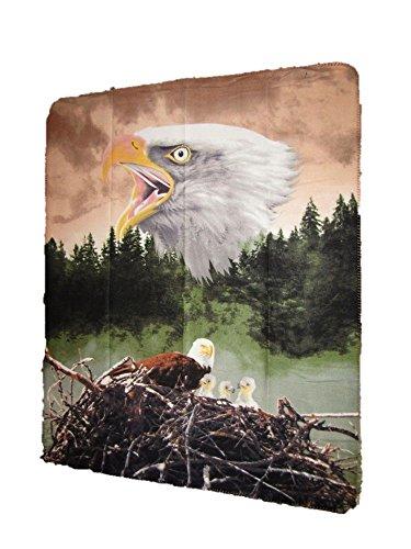 American Bald Eagle Nest Forest Nature 50x60 Polar Fleece Blanket Throw American Eagle Garden