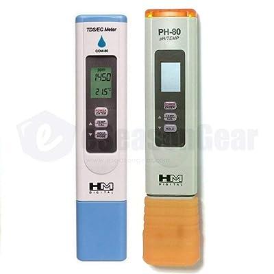 HM Digital COM-80 + PH-80 Waterproof TDS/EC/PH Meter Combo : Garden & Outdoor
