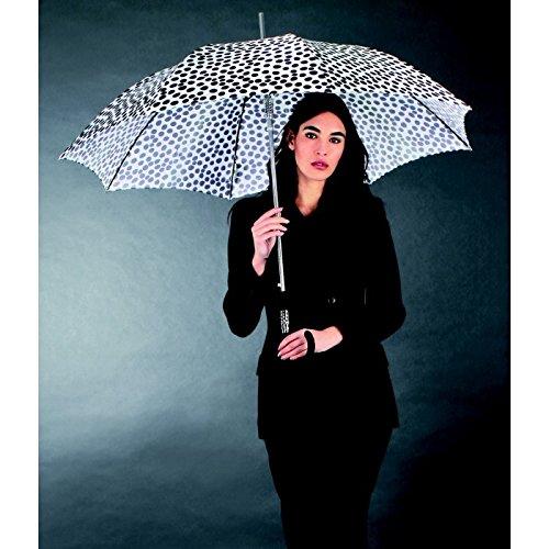 Paraguas largo mujer estampado a topos en blanco y negro . Paraguas Vogue abre automático: Amazon.es: Equipaje