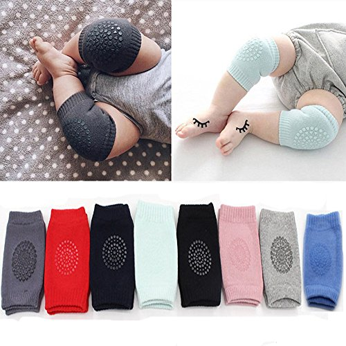discount Flyou 8 Pair Baby Crawling Knee Pads Anti-slip Kneepads Toddler Knee Elbow Pads Safety Protector for 9 months - 2 years supplies