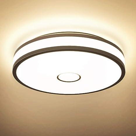 Onforu 32W LED Lámpara de Techo Salón, IP65 Impermeable CRI 90+ LED Plafón 2800LM para Cocina Dormitorio Habitacion, Igual al 300W Luz Interior Techo, ...
