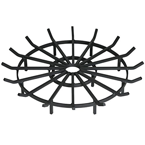 Heritage Products Heavy Duty Wagon Wheel Firewood Grate for Fire Pit - Made in The USA (36 Inch) ()