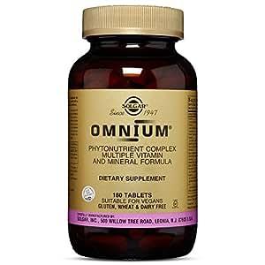 Solgar – Omnium Phytonutrient Complex Multiple Vitamin & Mineral Formula, 180 Tablets