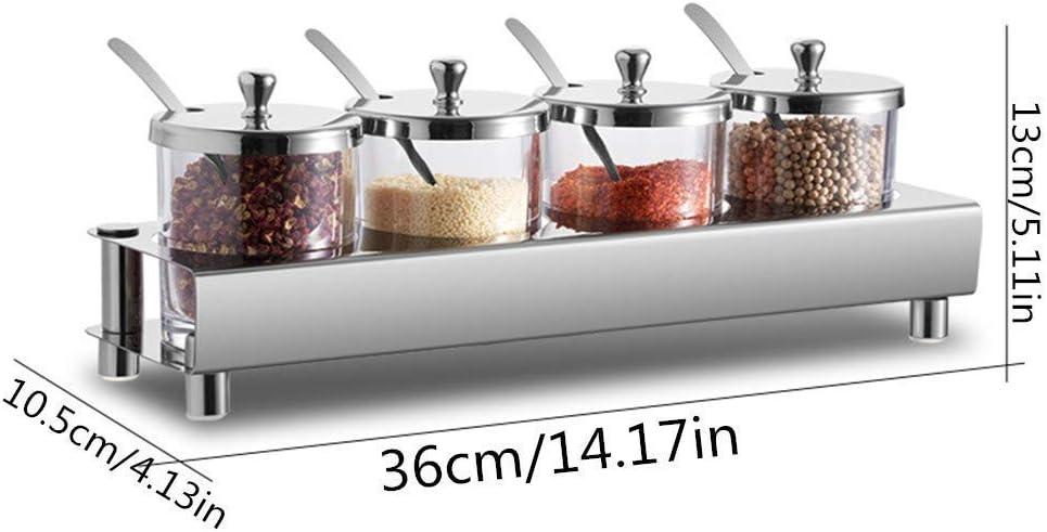 2//6pcs Seasoning Bottle Box Jar Condiment Spice Storage Container Rack I2E9
