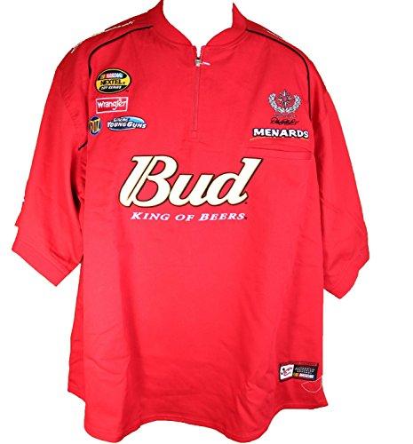 NASCAR Dale Earnhardt Jr #8 Budweiser VIntage Pit Shirt Red Large
