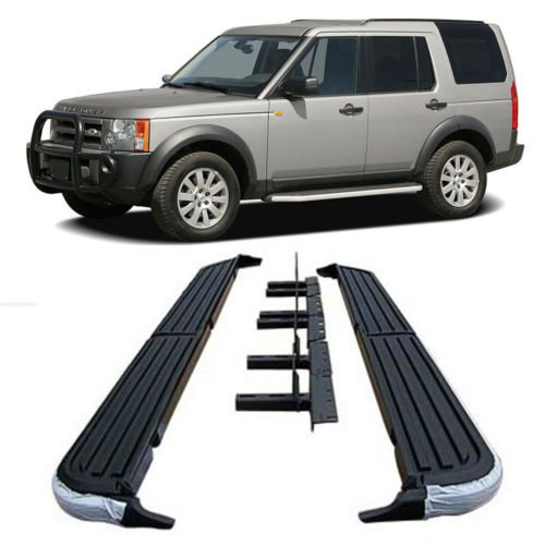 (05-10 Land Rover LR3 LR4 Discovery-3 Aluminum Running Boards Pair Set Step Side)