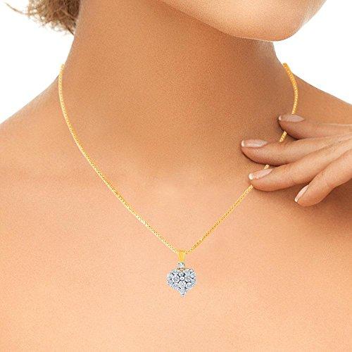 Giantti 14carats Diamant Pendentif Femme Collier (0.2838CT, VS/Si-clarity, Gh-colour)