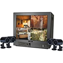 Lorex SG21FD3044-161 21 Flat CRT Color Dual-Quad Observation System with Built-in Digital Video Recorder