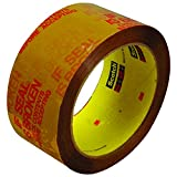 3M 3732 Pre-Printed Carton Sealing Tape, 2'' x 55 yd.