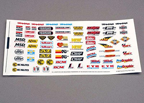 Traxxas 2514 Racing Sponsors Decal Sheet