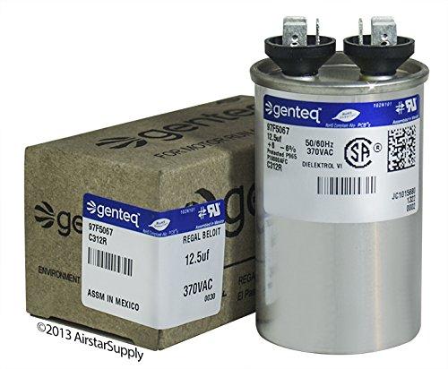 GE Genteq Round Capacitor 12.5 uf MFD 370 Volt Z97F5067 97F5067 by GE
