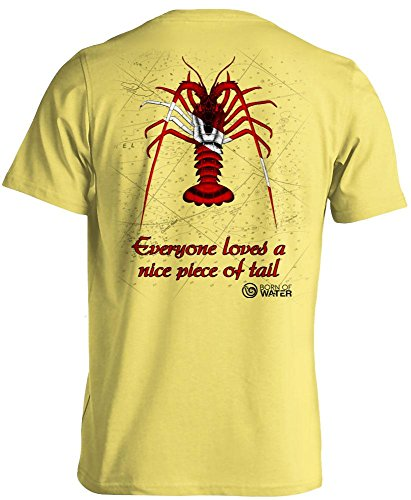 Born of Water Lobster Scuba Diving Shirt: Freedive   Dive   Spearfish - Yellow - -