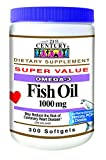 21st Century Fish Oil 1000 mg Softgels, 300 Count