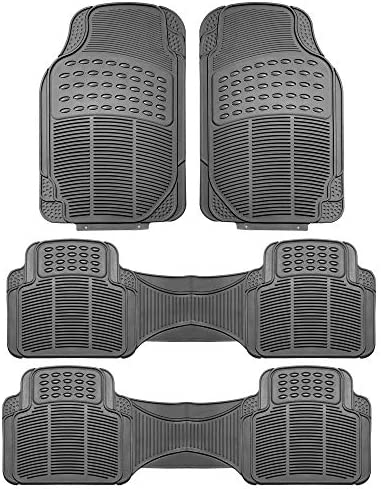 FH Group F11306GRAY-3ROW Floor Mat (Trimmable Heavy Duty 3 Row SUV All Weather 4pc Full Set – Gray)