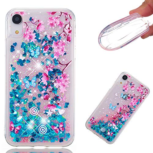 iPhone XR Case, ZERMU Ultra Thin Fashion Bling Luxury Quicksand Flowing Floating Luxury Glitter Waterfall Fusion Moving Liquid Sparkling TPU Bumper Protection Cover iPhone XR 6.1 inch 2018