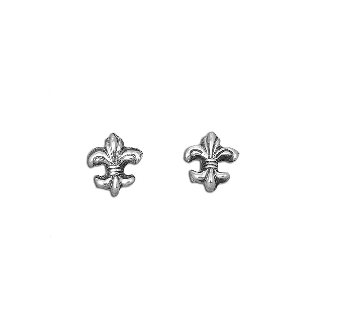Sterling Silver French Royal Stud Earrings