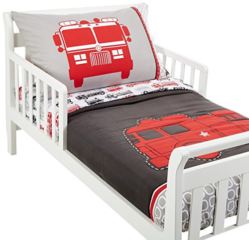Carters 4 Piece Toddler Bed Set Fire Truck