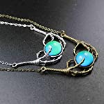 Steam Punk Claw Mood Cabochon Color Changing Pendant Charm Emotion Necklace 18''+1'' Extender 8