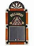 Colorful Billiards Theme Dartboard Cabinet