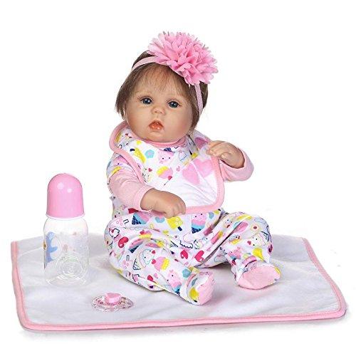 エンジェルベイビー人形Rebornベビー人形ソフトSiliconeビニールLifelikeガール16インチ40 cm Huggableボディfor Kid Toys   B07BS8LDNS