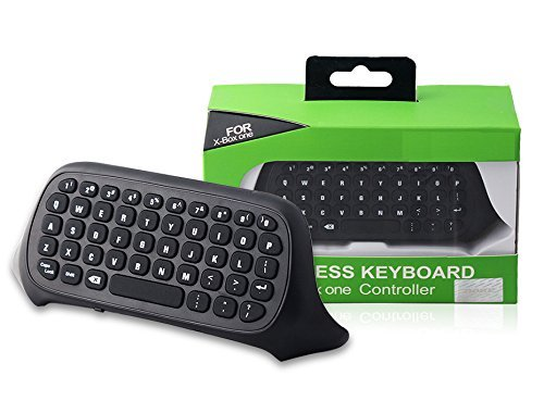Ankong® 2.4G Chatpad Wireless Keyboard Keypads for Microsoft Xbox One Controller (Black)