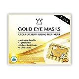 24K Gold Eye Mask / Anti-aging Hyaluronic Acid Eye Patches / Gold Collagen Eye Strips for Anti Wrinkle Tissue Rejuvenation / Spa Quality / Gold Eye Pads / 10-Pack