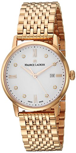 Maurice Lacroix Women's 'Eliros' Swiss Quartz Tone and Gold Casual Watch(Model: EL1094-PVP06-150-1)