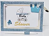 Baby Shower Royal Prince Baby Boy Guest Book with Pen