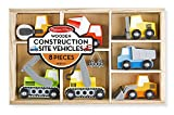 Melissa & Doug Wooden Construction Site Vehicles With Wooden Storage Tray (8 pcs)