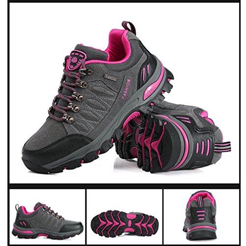 Suben 7 Adultos Suben Través De Colores 44 Rosa Gris Zapatos Antideslizantes Los Campo Asiáticos a Unisex 38 Que Zapatos Rojo Que Impermeables Pxn0w6w4