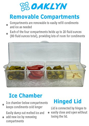 Review Large Clear Condiment Server