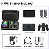 Soyan Travel Case for Nintendo Switch System, Fits the Console, Joy-cons, Dock, AC Adapter and Switch Pro Controller (Black)