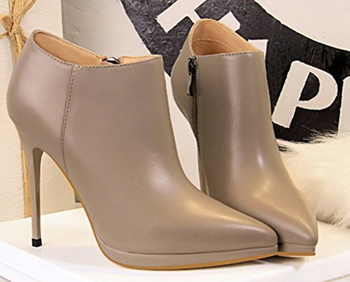 Aisun Stiletto Boots Low Pointues Bottines Femme Sexy nrn7H