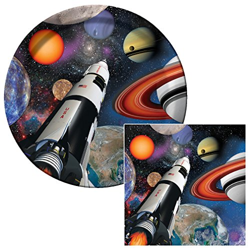 Space Blast Lunch Napkins & Plates Party Kit for 8