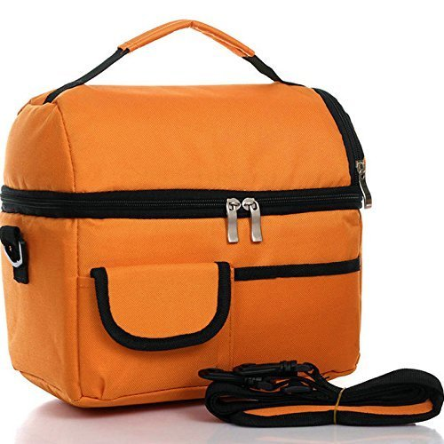 Food To Carr When Travelling: ReaLegend Lunch Bag Cooler Carry Bag Insulated Tote Large