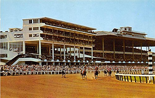 Monmouth Park Jockey Club Oceanport, New Jersey, NJ, USA Old Vintage Horse Racing Postcard Post Card