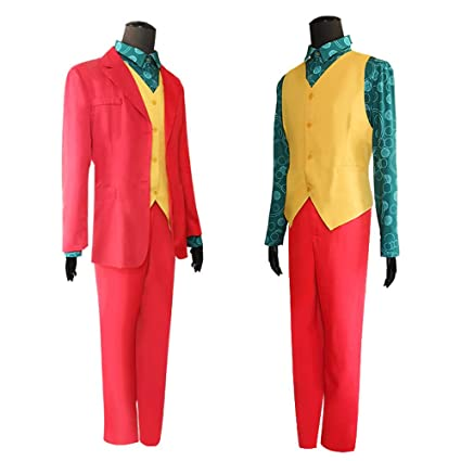 Joker Costume Halloween Deluxe Cosplay Party Super Villain ...