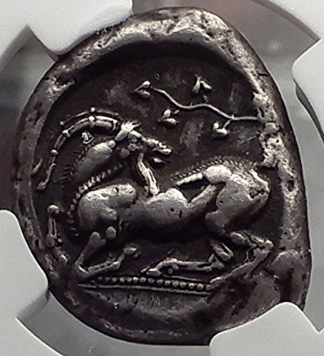 - 425 GR KELENDERIS CILICIA 425BC Stater Horse Rider Goat coin XF NGC