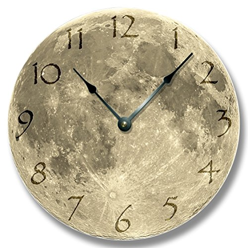 MOON pattern wall CLOCK - celestial home decor - astronomy planet