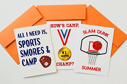 Sports PACK-CAMP GREETING CARDS SET OF (Send Stationery)