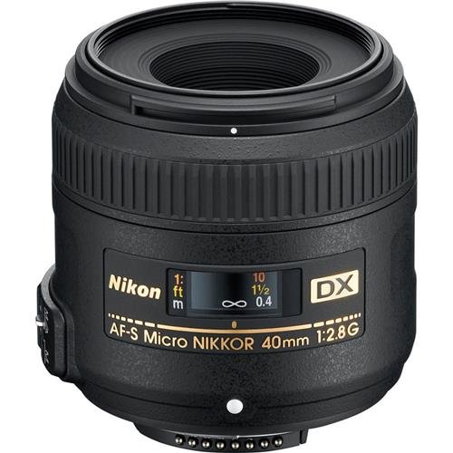 Nikon AF-S DX Micro-NIKKOR 40mm f/2.8G Close-up Lens for Nikon DSLR Cameras (Best Wide Lens For Nikon Dx)