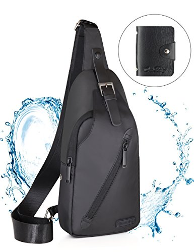 LST Sling Bag Waterproof Crossbody Chest Backpack Outdoor Cycling Chest Shoulder Unbalance Gym Fashion Bags Sack Satchel for Men & Women ()