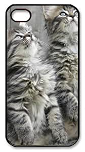 Curious Critters3 Custom iPhone 4s/4 Case Cover Polycarbonate Black