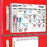 Magnetic Refrigerator Calendar Dry Erase Boards 2019 - Monthly Dry Earese Board Calendar - Magnetic Menu Board for Fridge / Wipe Off Calendars for Refrigerator - Kitchen Menu Board / Meal Prep Planner
