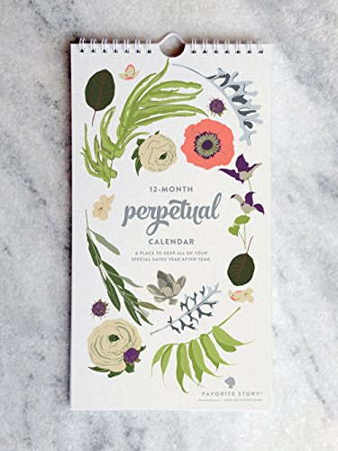 Wildflower Birthday Calendar | Perpetual Calendar | Favorite Story by Favorite Story