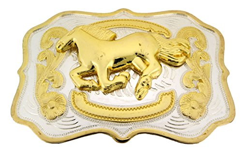 Running Horse Belt Buckle Cowgirl Up Ladies Women Western Fashion Texan Us Style from Generic/Buckleszone