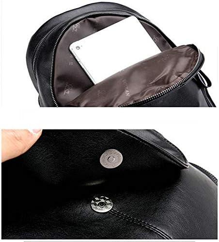 AMNVBD Damen PU Hohe Kapazität Kurzstreckenreisetasche Tragbarer Rucksack (Farbe: Bronze, Größe: Einheitsgröße)