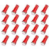97 dodge ram 1500 dash parts - CCIYU 20 Pack T5 73 74 Dashboard Gauge 5050SMD LED Wedge Light Bulb Fits 2005-2007 GMC Sierra 1500 1500 HD Yukon Yukon XL 1500 Sierra 1500 1500 HD 2500 HD 3500 (20pack pink)