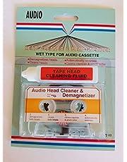 AUDIO CASSETTE TAPE HEAD CLEANER & DEMAGNETIZER WET-TYPE VOOR HOME AUTO OF DRAAGBARE DECKS