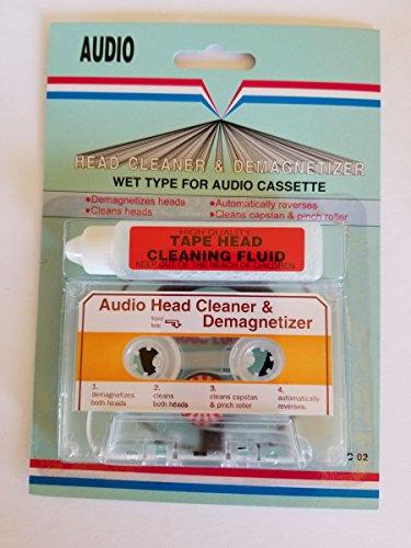 (AUDIO CASSETTE TAPE HEAD CLEANER & DEMAGNETIZER WET-TYPE FOR HOME CAR OR PORTABLE DECKS)